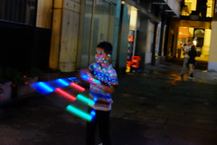 May The Force be with you (Time.Captured.) Tags: street boy schweiz switzerland tessin abend licht ticino fuji child nacht candid citylife streetphotography kind lugano junge fujixt1