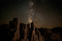 Mono Lake Stars (jpaulus) Tags: stars monolake tufa speedlight milkyway