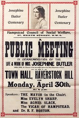 Poster : Josephine Butler Centenary. A public meeting in commemoration, 1928.
