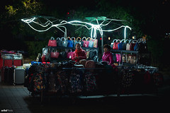 The Stall Selling Bags at Night. #Leica #Street (unTed) Tags: china street leica city people color night 50mm f14 beijing streetphotography documentary summilux asph leicam leicam240