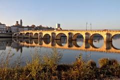 Lumière sur le pont (Chemose) Tags: bridge autumn france monument water architecture automne river eau burgundy rivière pont bourgogne saintlaurent hdr macon saône saone mâcon bourgognedusud southburgundy