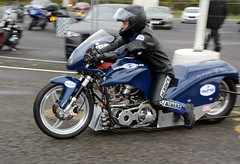 Supertwin (Fast an' Bulbous) Tags: santa autumn england pits bike race speed drag pod nikon track power gimp fast strip motorcycle biker motorsport acceleration octocber d7100