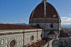 DSC_5977 (The_mediterranean_traveler) Tags: autumn italy history sunshine florence italia view peaceful bluesky wanderlust hills tuscany historical firenze duomo traveling toscana renaissance brunelleschi oldarchitecture giottotower florencecathedral greatview travelphotography historicalcity brunelleschisdome renaissancearchitecture nikond3000 viewfromgiottotower