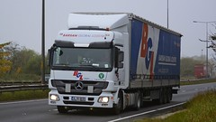 34 KU 0035 (panmanstan) Tags: truck wagon mercedes yorkshire transport international lorry commercial vehicle freight haulage hgv southcave actros a63 curtainsider