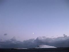 Moon over Nlsoy (Jan Egil Kristiansen) Tags: moon seascape island horizon faroeislands nlsoy img2546