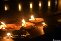 Diwali (dibakardipu) Tags: light night reflections religious candle bokeh diwali 2015 happydiwali