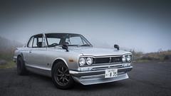 1971 Nissan Skyline Hakosuka (RapidCancel) Tags: white mountain japan fog skyline fuji nissan f14 pass devil fujifilm prefecture kanagawa hakone jdm touge gtr xf 23mm xt1 hakosuka