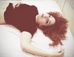 Hungover (|Raquel|) Tags: ginger bed bedroom sunday makeup curls redhead redlips sleepyhead redhair curlyhair afterparty