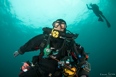 Rebreather diving (edouardfourcade) Tags: blue water underwater scuba diving clear basque rebreather plonge recycleur