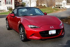 Shamelessly Showing Off (Little Hand Images) Tags: car automobile convertible mazda ragtop mx5 roadster redcar 2016miata miatagrantouring miatasoulred mazdamiata2016