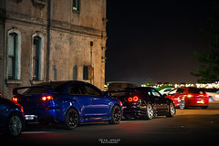 Saturday Night. (God_speed) Tags: road new city blue black cars car skyline wales night nikon brighton nissan outdoor 10 south 85mm saturday evolution x godzilla le nsw vehicle pearl sands evox lancer mitsubishi jdm evo octane gtr nismo nur nurburgring d610 vspec 14g vspecii vspec2