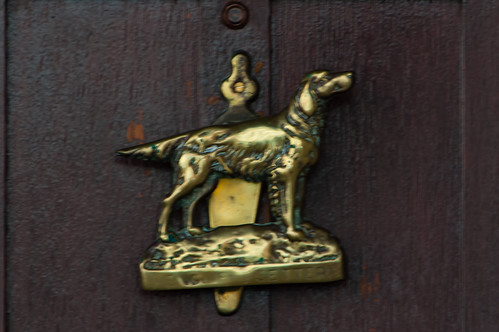 Dog doorknocker