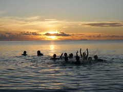 Sunset, Tuvalu!