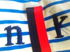 monogram for nikki kule shirt (jillianph) Tags: embroidery monogram nikkikule kule