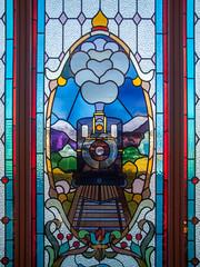 Dunedin Railway Station Stained Glass Window (I) (deltics) Tags: southisland trainstation dunedin hdr windows newzealand nz stainedglass otago