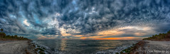 I had the beach all to myself (DonMiller_ToGo) Tags: beachlife cloudporn gulfofmexico nature water goldenhour panorama florida panoramic rocks panoimages25 sky seascapes clouds caspersenbeach beachphotography outdoors