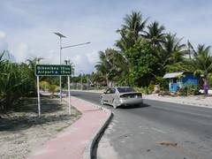 The only road in Tarawa, Kiribati.