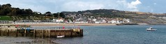 Lyme Regis from the Cobb (pefkosmad) Tags: lymeregis thecobb dorset seaside town shoreline holiday vacation scenery panorama vacances recreation england uk waves seascape southcoast sea bay buildings