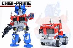 0. Chibi-Prime Cover 2017 (Sam.C MOCs (S2 Studios)) Tags: lego transformers optimus prime chibi moc mech robot anime scifi car truck