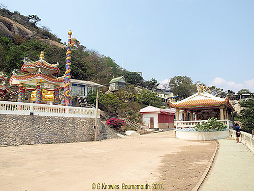 Chinese Temple at Wat Kow Takiab, or Wat Kao Lad, Chopstick Hill in 2015, about 20 miles south of Hua Hin. Prachuap Khiri Khan, Thailand.