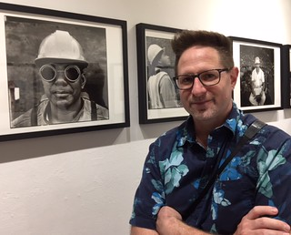 Photographer and Author Andrew Kaufman at the opening of his exhibition at Books&Books in Coral Gables