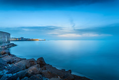 At the blue hour (Michele Naro) Tags: trapani bluehour longexposure sicily sicilia sizilien sicile sea see samyang14mmf28 nikond80 italien italy italia italie iamnikon nikon