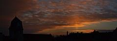 Pilier solaire au coucher - Dole - 9 Janvier 2017 (Nicolas Rossetto) Tags: phm atoptics soleil coucher dole 2017