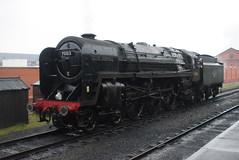 70013 @ Loughborough Central (ianjpoole) Tags: british railways britannia class 7p 70013 oliver cromwell great central railway winter steam gala