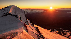 First Light (blue polaris) Tags: new zealand tongariro national park mt mount ruapehu sunrise morning snow mountain volcano landscape te heuheu tukino peak