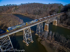 When opportunity knocks....you better answer (grady.mckinley) Tags: marion north carolina catawba river clinchfield lake james csx