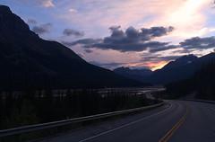 Evening Drive (rimlli) Tags: road park sunset canada mountains clouds drive nationalpark national alberta jaspernationalpark icefieldsparkway