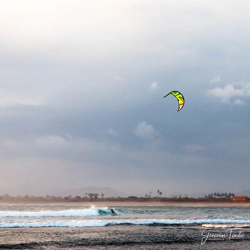 Kite surfers, Lakey Peak beach, Hu'u, Sumbawa Island, Indonesia (August 2015)