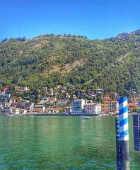 Lake Como, Italy. (Scottmh) Tags: travel italy lake como water boats lago phone samsung sunny galaxy lombardia hdr android s4