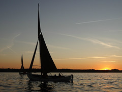 Sjgte sailing in Hjarbk fjord (Jaedde & Sis) Tags: sunset silhouette sailing hjarbk unanimous friendlychallenges challengefactorywinner thechallengefactory sjgte