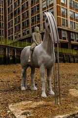 Horse sculptures (mandyhedley) Tags: horse london art thames river children artist streetphotography tidal sculptures banker therisingtide jasondecairestaylor oilderrickarms