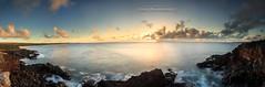 Molokai West side Cliffs.  My first 2 Gbyte file!! Yikes (MICHAEL A SANTOS) Tags: ocean sunset hawaii waves slowshutter hawaiian westside reef whitewash molokai kaunakakai canon1740mml leefilter michaelasantos canon5dmarkiii saintsphotography kaluakoibay