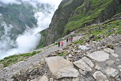 On way to Hemkund Sahib (Pradeep Thapliyal) Tags: cliff india mountain landscape outdoor hill mountainside sahib hemkund uttranchal uttrakhand hemkundsahib uttrakhandpilgrimage