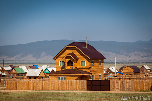 Drewniane domy w Ułan Ude