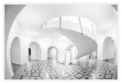 Tate Britain Staircase (PHumphrey) Tags: monochrome architecture mono tate spirals fineart staircase modernarchitecture
