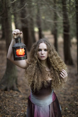 The Dark Woods (loukaphotography) Tags: autumn forest canon model lantern candlelit