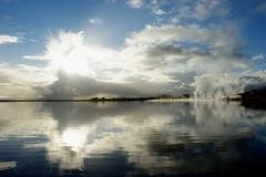 Laugarvatn (oeiriks) Tags: sky cloud lake reflection water iceland steam laugarvatn oeiriks sonyalpha350