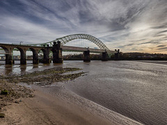The Runcorn Bridge (Maggie's Camera) Tags: beach river tidal mersey merseyside runcornbridge pickeringspasture november2015