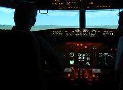 Pretending to be a Pilot (mikecogh) Tags: panel mc controls windscreen pilot dials unley flightsimuator