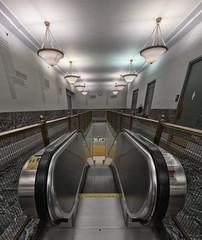 Ninth Floor Escalator (Jovan Jimenez) Tags: sony ilce 6500 emount zeiss touit 12mm f28 a6500 alpha ninth floor escalator harold washington library kolor autopanopro autopano interior panorama pano indoor indoors chicago carl