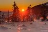 Evening in the mountains (z.dorighi) Tags: landscape scenery winter trees sunset light sun sky beautiful evening orange impression poland babia góra mountain