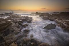 Rocky Channel (Paul Hollins) Tags: aus australia cavesbeach newsouthwales theblacksmith nikond750 nikon1635mmf4 seascape rocks chalkybeach watermovement