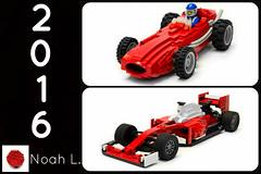 Year in Review   2016 (Noah_L) Tags: ferrari sf16h maserati 250f tipo 2 lego car cars red moc creation f1 formula one