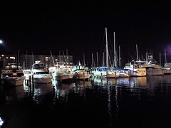Peaceful night in Dunedin Marina (h862213) Tags: water waterfont marina sea seashore ocean shore boats night nightview oceanview dunedin florida holiday outdoor light reflections dim beach town city waterfront waterscape