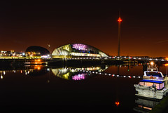 Glasgow science centre (murphy197) Tags: anneflaherty glasgow river clyde reflections nikond7100 tokina1116mm longexposure scotland sciencecentre colour still boat