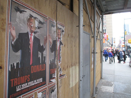 This is Donald Trumps America - sidewalk poster 0965